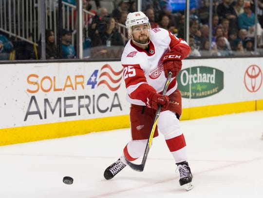 Defenseman Mike Green signed a two-year contract with the Red Wings this offseason.