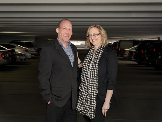Chariot for Women founder Michael Pelletz and wife