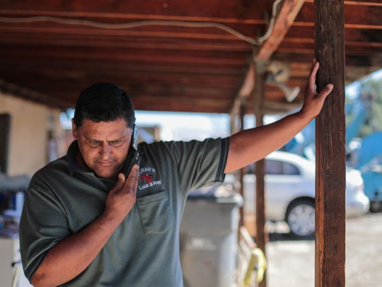 Albert Duran, owner of Duran's Lock and Key, on the