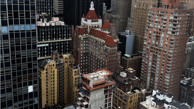 High rises in New York City.