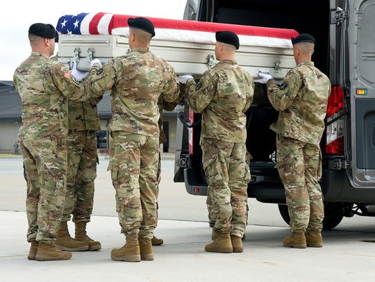 In a Repatriation of Remains event, Air Force Mortuary
