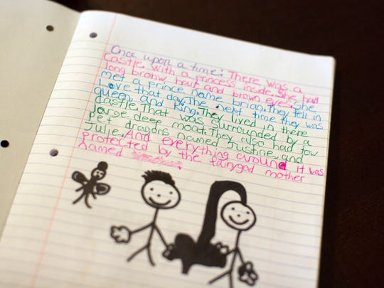A story written by a nine-year-old girl in foster care about her foster family and caseworker.