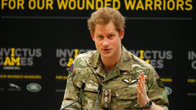 Prince Harry launches Invictus Games for wounded warriors at Olympic Park in London, March 6.