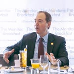 Rep. Adam Schiff, D-Calif., speaks at the Christian Science Monitor breakfast Tuesday.