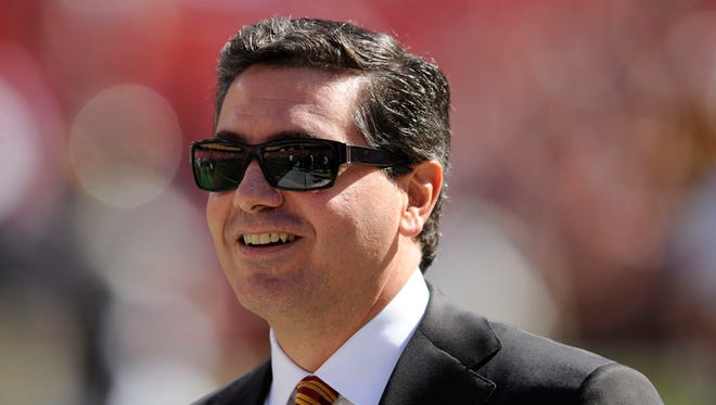 Washington Redskins owner Daniel Snyder, shown here in a file photo, has launched the Washington Redskins Original Americans Foundation, a charity he says will benefit Native Americans. Snyder says he has been meeting with and learning from Native American groups as he tries to rebut criticism that his team's nickname is offensive.