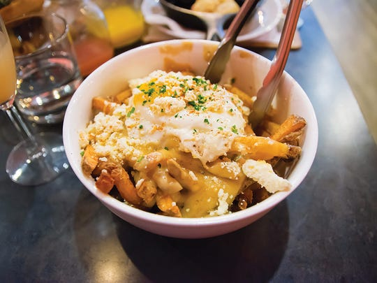 Brunch poutine from Orbs.