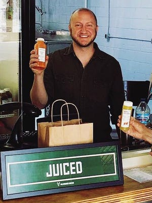 Jason Lannoch's Juiced! Cold-Pressed Juicery is on S. 5th St. next to Fuel Cafe.