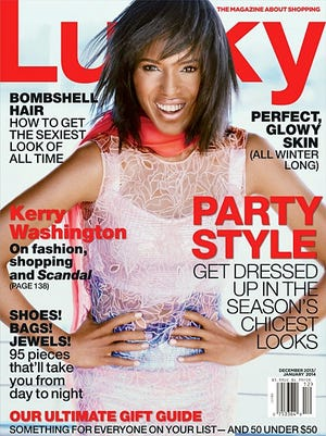Kerry Washington cover's the December/January issue of 'Lucky.'