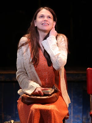 Sutton Foster performs in the Broadway play 'Violet.'