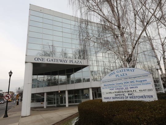 The exterior of One Gateway Plaza on South Main Street
