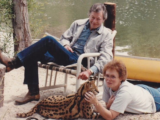 DeForest Kelley and author Kris Smith