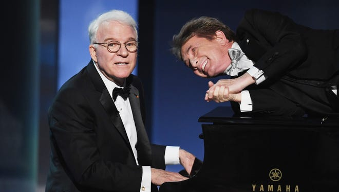 Steve Martin, left, and Martin Short will trade barbs, swap show biz stories and perform stand-up and musical numbers for a joint show Sept. 21 at the Resch Center Theatre.