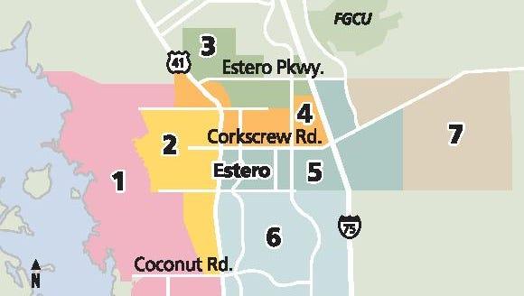 Village of Estero districts