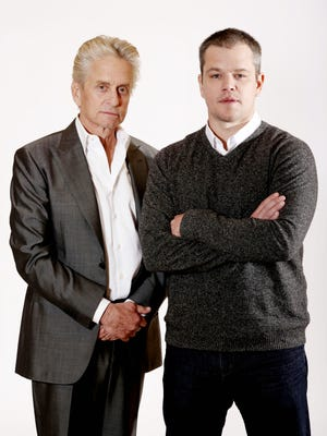 Michael Douglas, left, and Matt Damon.