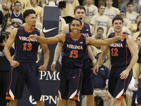 USP NCAA Basketball_ Virginia at Pittsburgh