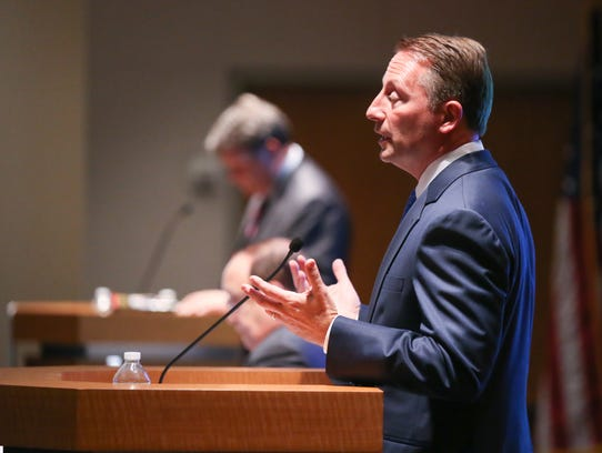 County Executive Rob Astorino answers questions during