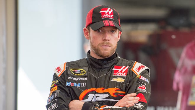 Regan Smith, filled in for Stewart-Haas Racing's Kurt in the Sprint Cup Series earlier this year.