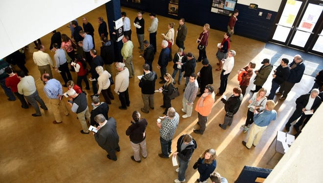 File photo of early voting.