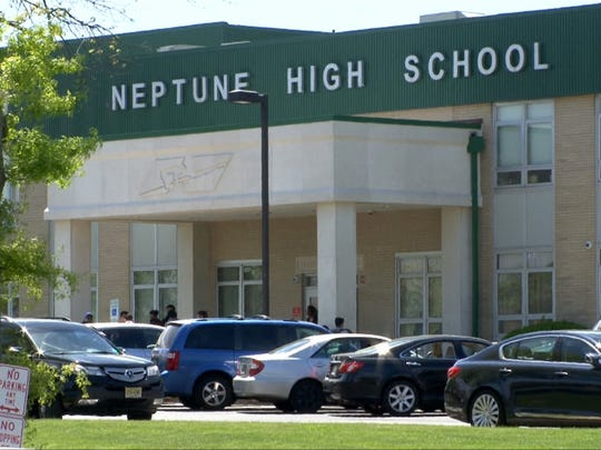 Exterior of Neptune High School is shown Tuesday, May