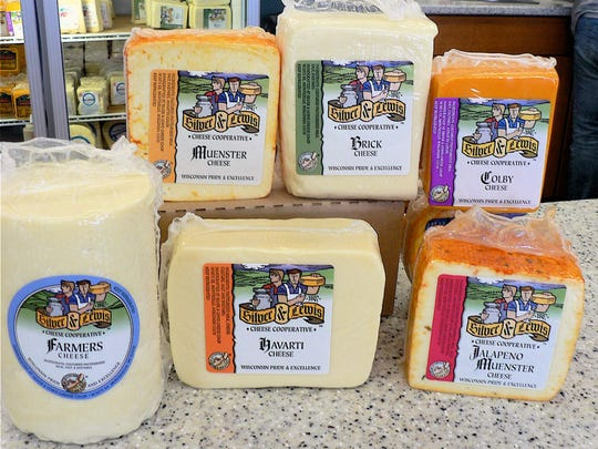 Some of the cheeses you can buy at the Silver Lewis