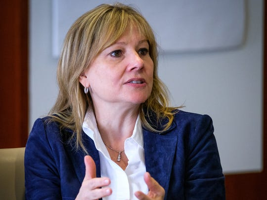 General Motors CEO Mary Barra was the highest paid of the Detroit Three chief executives in 2016.