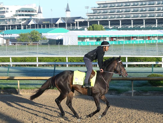 My Boy Jack warms up before running in Saturday's Kentucky