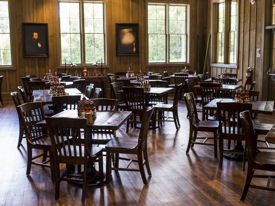 The dining room of the McIlhenny Company's new restaurant 1868 on Avery Island is pictured on Tuesday, Aug. 4, 2015.