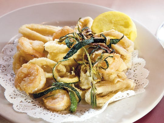 Frittura Mista del Mare: Olive oil fried calamari, shrimp and zucchini