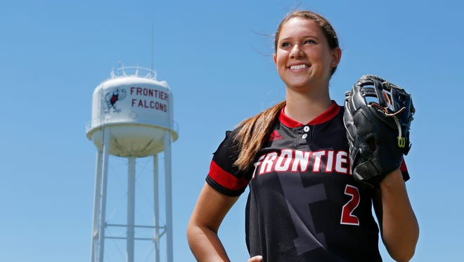 Savanna Harrison of Frontier High School is the 2016 Journal & Courier Small School Player of the Year for softball.
