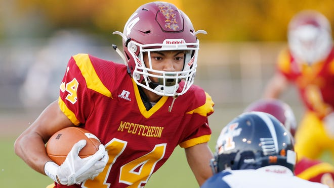 Bryson McGhee caught two touchdown passes in last week's win over Guerin Catholic.