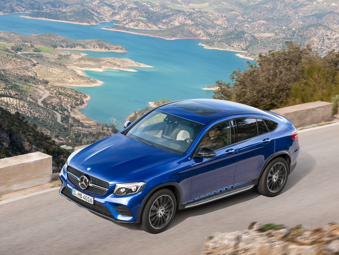 The new 2017  Mercedes-Benz GLC Coupe crossover is