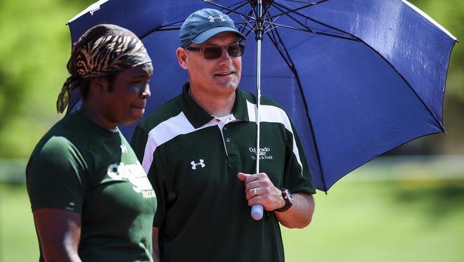 File photo of CSU coach Brian Bedard and thrower Aaliyah Pete.