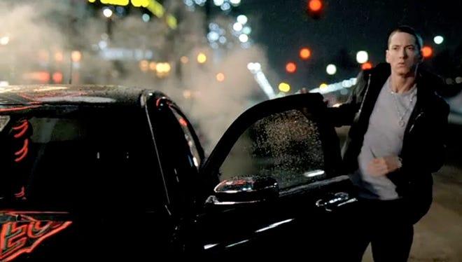 """In 2011, Chrysler's Super Bowl commercial """"Born of Fire"""" featured Eminem for the Chrysler 200 sedan"""