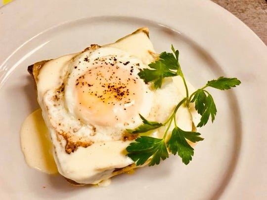 A croque madame is among the dishes served at Bistro