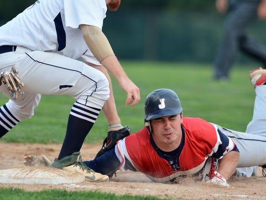York Township first baseman Austin Martinez gets the