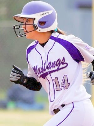 Western's Mariangela Garcia had a great game against Dixie State University. She was 2-for-3, with an RBI and a run scored to help the Lady Mustangs pull of the upset.