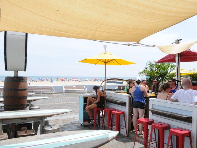 Backshore Brewing Company over looks the Ocean City