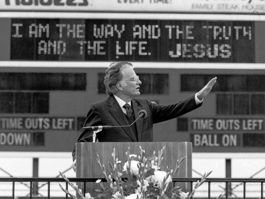 Rev. Billy Graham Crusade was from April 25 to May