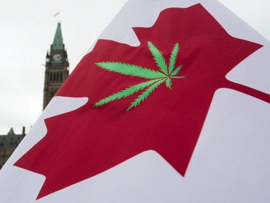 Canadian marijuana legalization flag