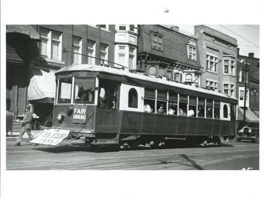 No. 163 heads to the York Fairgrounds. Trolley expert