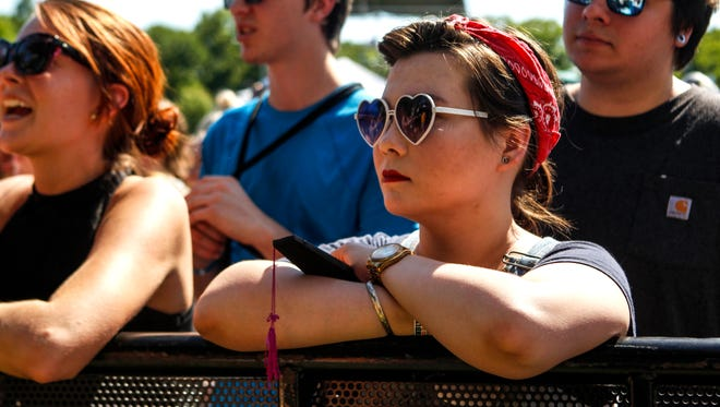Alyssa Parsons listens to Eden at the Bunbury Music Festival.