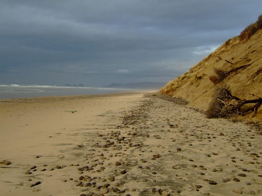 """The sandy beaches of Netarts Spit is one of the hikes in the book """"Off The Beaten Trail: Fantastic Unknown Hikes In Northwest Oregon and Southwest Washington."""""""