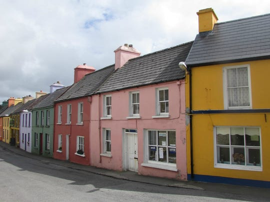The tiny coastal town of Eyeries, in County Cork, is
