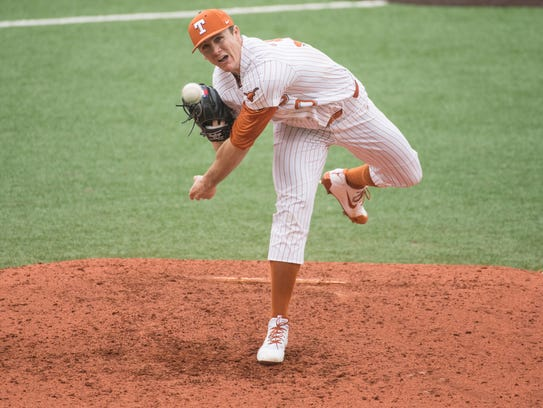 Texas Longhorns pitcher Josh Sawyer was selected as the 488th pick in the 16th round by the Chicago Cubs in the 2018 Major League Draft on Wednesday. Sawyer is a former San Angelo Central High School standout.