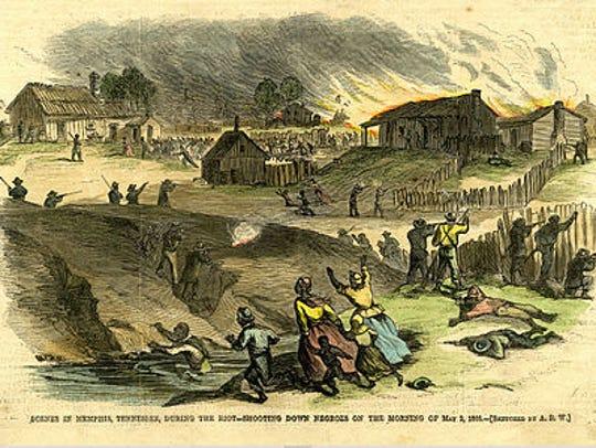 Earlier in 1866 in the Memphis Riots, 46 blacks were