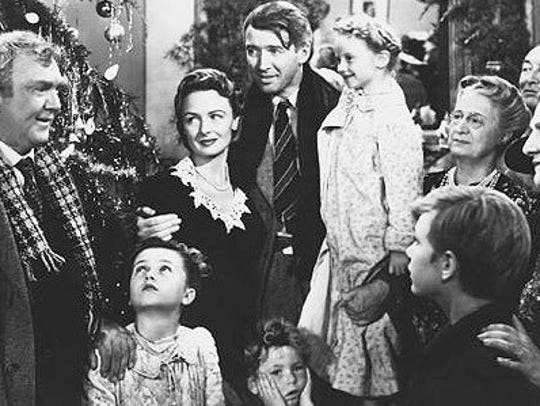 """It's a Wonderful Life"" is a popular movie around Christmas."