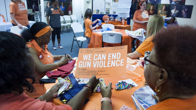 Family members who lost loved ones to violence were invited to contribute quilt squares during National Gun Violence Awareness Day at Mothers Against Murders - also known as MAMA - and Moms Demand Action for Gun Sense in America on June 8, 2019, in West Palm Beach.  MAMA this week announced it has received a $20,000 grant.