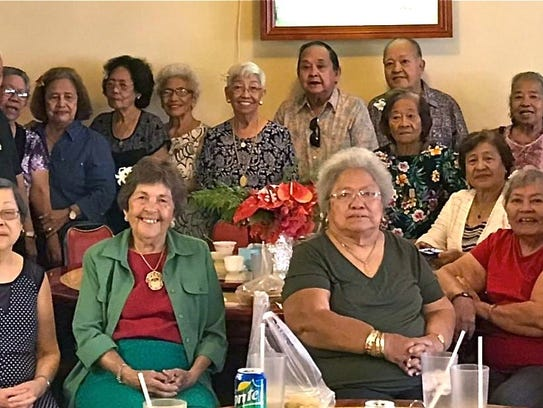 Members of the Class of 1956 from Academy of Our Lady