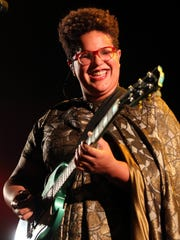 Brittany Howard performs with the Alabama Shakes in concert at Ascend Amphitheater Thursday April 21, 2016.