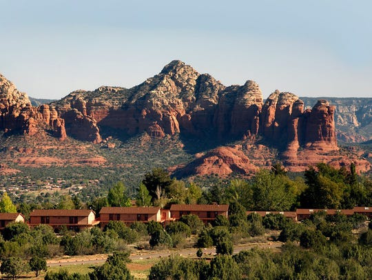 Sky Ranch Lodge on Airport Mesa in Sedona has red-rock
